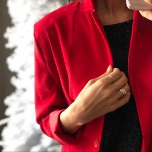 Jackets & Blazers - Red Long Blazer Style Jacket Made In Canada!